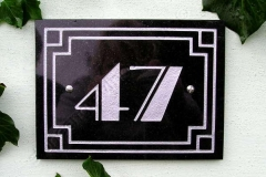 Art Deco border house number