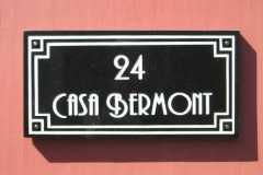 Art-Deco style house sign