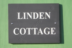 Welsh slate Linden Cottage house sign.