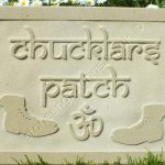 Chucklars Patch, designed for a lady with fond memories of India. A chucklar is a Shoe repairer. ( if memory serves). hence the old boot motifs which were drawn up by my talented daughter!
