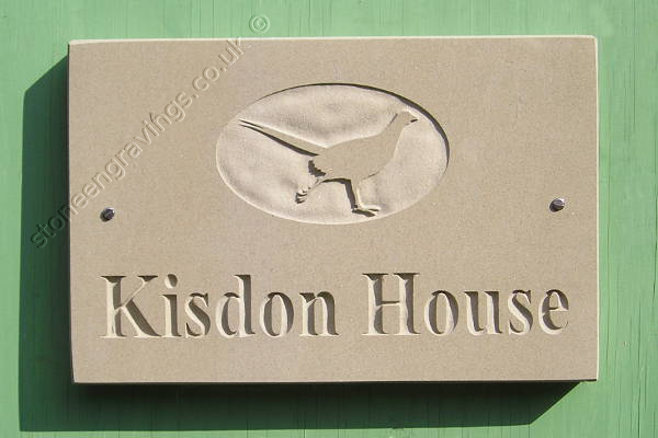 Kisdon House York stone sign