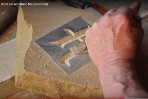 Hand Carving a House Number in Stone